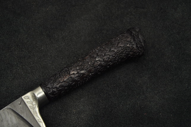 Нож кухонный Пчак, дамаск